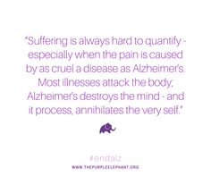 Purple Elephant is a nonprofit organization that is changing the way young people think about Alzheimer's disease on a global scale. Alzheimers Quotes, Alzheimers Awareness, Purple Elephant, Self, Mindfulness, Words, Horse