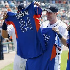 ad3e44634f8 Miggy  amp  Max recieving their 2013 All-Star Game jerseys!! i might