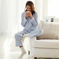Pajamas and socks. Pajama Day, Pajamas All Day, Cozy Pajamas, Pilou Pilou, Bed Socks, Easy Like Sunday Morning, Foto Instagram, The White Company, Bikini Fashion