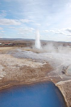 So blue: Geysir in Iceland
