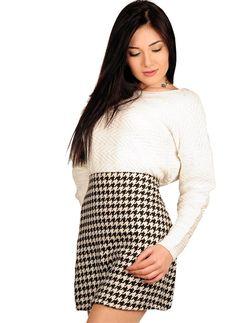 Bayan Triko Bluz Zigzag Çizgili Beyaz Modelleri ve Uygun Fiyat Avantajıyla | Modabenle