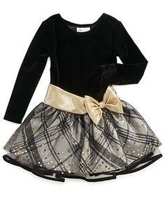 Dress she has for the Kennedy Christmas Bonnie Jean Girls Dress, Little Girls Long-Sleeved Holiday Dress Girls Black Dress, Toddler Girl Outfits, Little Girl Dresses, Girls Dresses, Jean Dresses, Pageant Dresses, Girls Christmas Dresses, Holiday Dresses, Baby Girl Fashion