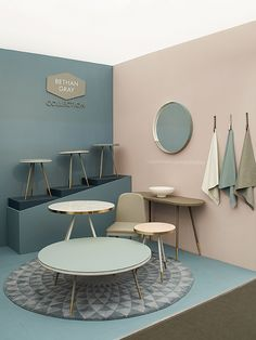 41 Coffee And Relaxation Minimal Space Ideas Cafe Interior, Office Interior Design, Home Decor Furniture, Furniture Design, Pastel Home Decor, Showroom Design, Room Colors, Colorful Interiors, Interior Inspiration