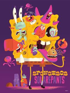 Nickelodeon Creator Series Posters - Christopher Lee - Sponge Bob