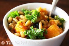 Kale and Kamut (a wheat grain) warm salad.