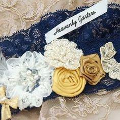 Garter set, ring cushion, lingerie bag with handkerchiefs made for Edwilline Cushion Ring, Garter Set, Wedding Garter, Place Card Holders, Lingerie, Bride, Design, Wedding Bride, Bridal
