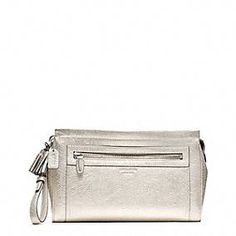 LEGACY METALLIC LEATHER LARGE CLUTCH
