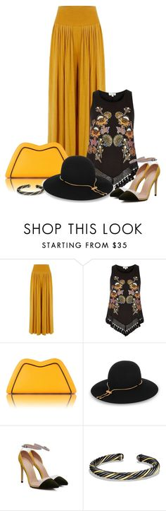 """""""Bottom Series 4/6"""" by lorrainekeenan ❤ liked on Polyvore featuring River Island, Feather.M, Lanvin and David Yurman"""