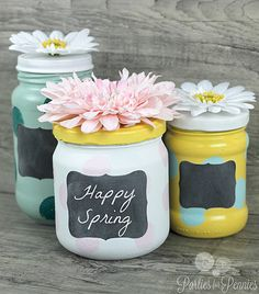 Anthropologie Mashup! Repurpose Glass Jars. A DIY Craft by Heidi from Parties with Pennies for LivingLocurto.com