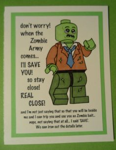 Zombie Father's Day, Birthday or Blank Card on Etsy, $2.95