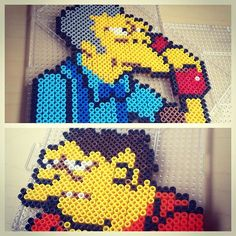 Moe and Barney - The Simpson perler beads by smargetts