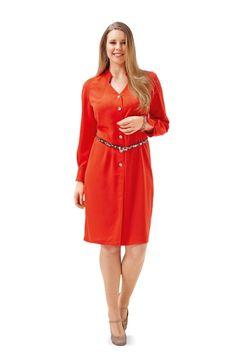 Jersey kleid v ausschnitt