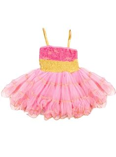 Ooh La La Couture - WOW Pouf Dress in Pink Lady & Gold