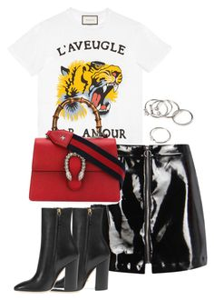 """Untitled #3961"" by theeuropeancloset on Polyvore featuring Gucci, Boohoo and Forever 21"