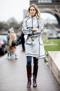 Paris Fashion Week Fall 2017 Street Style Day 7, See the best street style captured at Paris Fashion Week Fall 2017 at TheImpression.com PFW