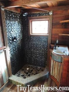 I like this but then I like most showers that aren't fiberglass inserts. | Tiny Texas Houses