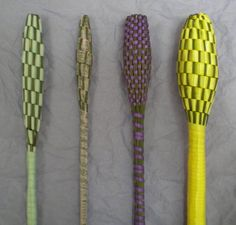 I like the one third from the left made with a very thin ribbon because you can see more of the lavender stems.