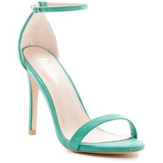 ANNA Flora Sandal ($20) ❤ liked on Polyvore featuring shoes, sandals, mint green, adjustable shoes, anna shoes, open toe sandals, ankle strap sandals and mint green shoes