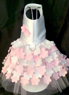 Flower Girl Dog Dress TuTu Harness Pet by FashionTailsBoutique, $35.00