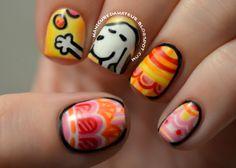SNOOPY EASTER EGGS #nail #nails #nailart