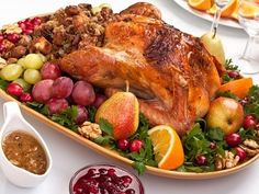 Christmas Dinner: Baked Turkey Stuffed with Apples Recipe. Try this savory sweet take on Christmas stuffing for your turkey this holiday season.