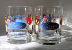 Santa Anita Race Track California Cup Drinking Glasses set of four