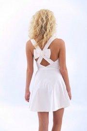 Don't Think Twice Dress-White