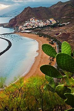 Las Teresitas Beach and San Andres neighborhood Tenerife Canary Islands Spain Beautiful Islands, Beautiful Places, Tenerife Sea, Spanish Islands, Photo Dream, Travel Box, Canary Islands, Travel Agency, Natural Wonders