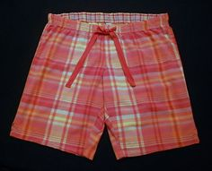 Old Navy Intimates Plaid Cotton Sleep Shorts/Pants Women's Size M  www.bevsthisnthatshop.com