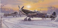 Pride of Britain - The winter of 1941 is remembered well by Geoffrey Wellum, pilot of Spitfire 'G' for George. Bitter cold and heavy snow during this period made flying conditions almost unbearable. Pride Of Britain, Battle Of Britain, Fighter Aircraft, Fighter Jets, Transport Pictures, De Havilland Mosquito, The Spitfires, Airplane Art, Supermarine Spitfire