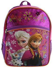 b701430b33 Disney Frozen Princess Elsa  amp  Anna Backpack Large 16 School Bag New  Licensed Design