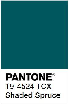 PANTONE 19-4524 Shaded Spruce - Затененная Ель