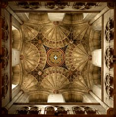 Canterbury Ceiling - Gothic Fan vaulting - Canterbury cathedral, England