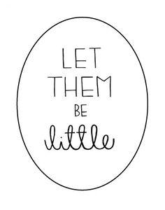 Let Them Be Little Print  #NEXTgiggleNURSERY