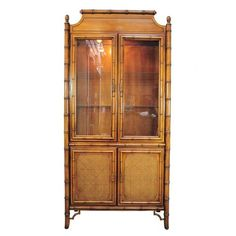 pine elm faux bamboo relief lyon france armoire carved. Black Bedroom Furniture Sets. Home Design Ideas