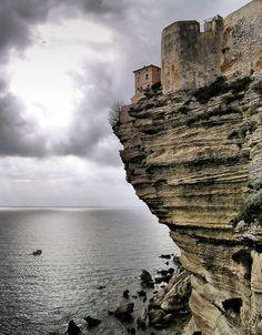 ~~Citadelle de Bonifacio ~ Clifftop Fortress, Corsica, Mediterranean Sea by Pierre Bona~~