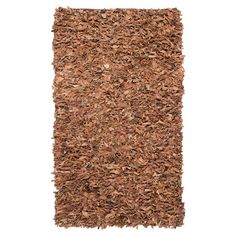 Napa Leather Rug in Brown
