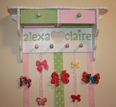 ULTIMATE Custom Personalized Boutique Hair Bow Hairbow Holder Bow Storage europeanzombie