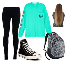 school out fit by kaileyknaak on Polyvore featuring polyvore fashion style Victoria's Secret NIKE Converse clothing