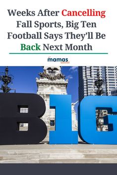 Big Ten Football Says They'll Be Back Next Month On Wednesday, September 16, the Big Ten Conference revealed that football will be back by the end of October. #NCAA #Big10Footfall #CollegeFootball