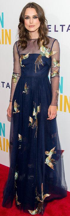 Keira Knightley at the Begin Again premiere.