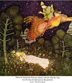 From: Dulac's Fairy Tale Illustrations in Full Color... The Fire Bird