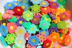 tiny perler bead flowers! (and an awesome story of how these raised funds!)