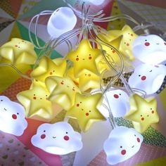 guirlande mini étoiles jaunes A little lovely company - deco-graphic.com