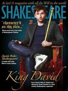 Out Now: David Tennant Features In The New Issue Of Shakespeare Magazine | David Tennant News From www.david-tennant.com