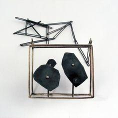 """SUSANNA BALDACCI - ITALY """"interiors black"""" collana, argento"""