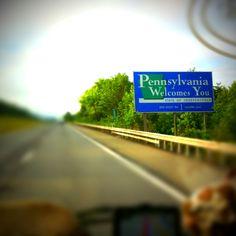 Après avoir dormi quelques heures dans un Rest Area, nous quittons l'Etat de N-Y pour celui de la Pensylvanie...