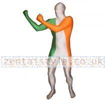 Lycra Spandex Ireland Flag Zentai Suit
