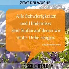 Zitat der Woche ;) Friedrich Nietzsche, Blog, Quote Of The Week, Quotes, Blogging