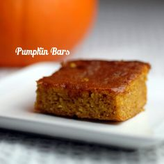 Pumpkin Bars- 21 day Fix Approved